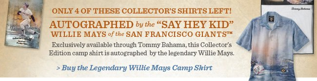 Buy The Legendary Willie Mays Camp Shirt