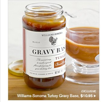 EXCLUSIVE - Williams-Sonoma Turkey Gravy Base, $10.95