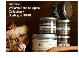EXCLUSIVE - Williams-Sonoma Spice Collection - Starting at $5.95