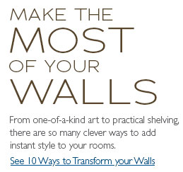 Make the most of your walls
