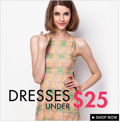 Dresses under $25
