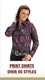 Womens Print Tops on Sale