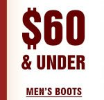Mens Boots Under 60 on Sale