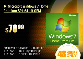 Microsoft Windows 7 Home Premium SP1 64-bit OEM