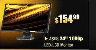 """ASUS 24"""" 1080p LED-LCD Monitor"""