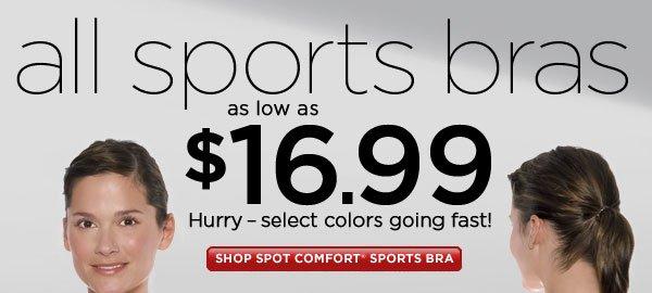SHOP Spot Comfort Sports Bra