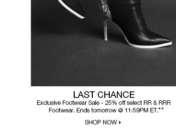 Last Chance for Footwear**