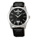 Orient EV0S004B Men's Union Black Dial Leather Strap Automatic Watch