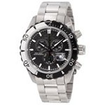Invicta 12860 Mens Pro Diver Black Carbon Fiber Dial Steel Bracelet Chrono Watch