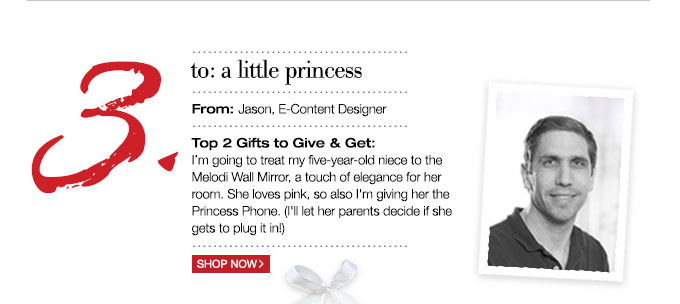 to: a little princess | From: Jason, E-Content Designer
