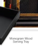 monogram wood serving tray