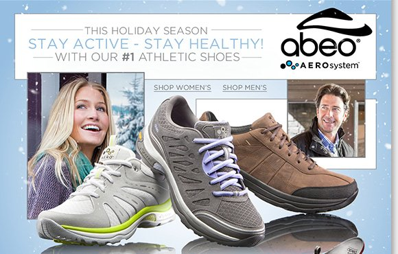 The next evolution in comfort footwear, shop ABEO® AEROsystem and stay healthy and active this holiday season! Plus, replace your favorite orthotics in all your shoes and save 20% when you buy two or more styles!* Find more great savings online and in stores at The Walking Company.
