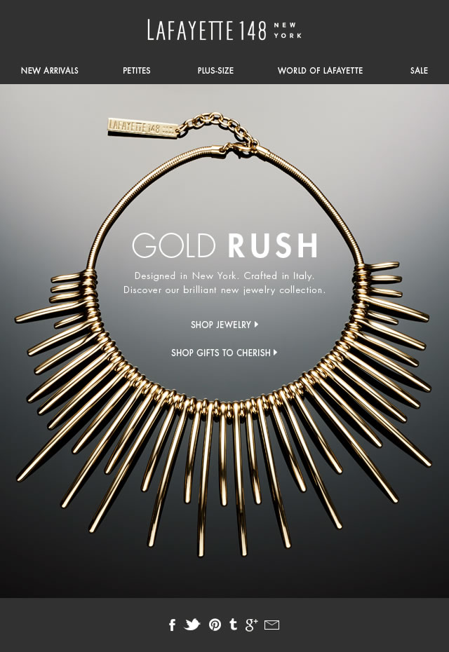 Gold Rush. Our brilliant new collection.