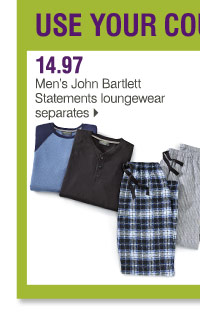 14.97 Men's John Bartlett Statements loungewear separates