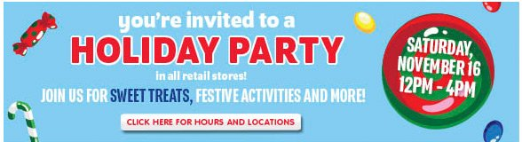 You're invited to a HOLIDAY PARTY!