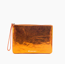 Beauty Bag | Metallic Orange