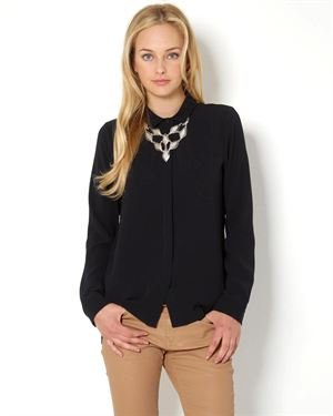 Achro Button-Up Long Sleeve Blouse