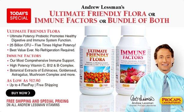 Immune Factors & Ultimate Friendly Flora Kit - 540 Capsules