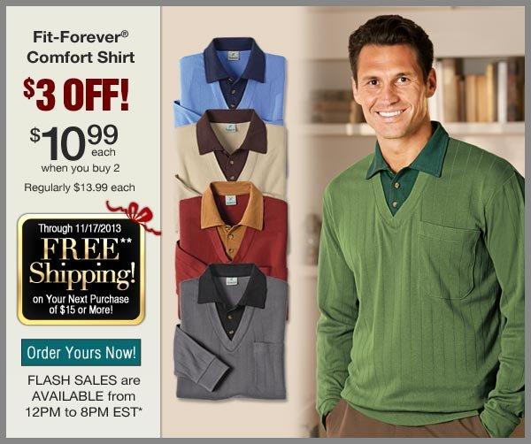 $3 OFF Comfort Shirt
