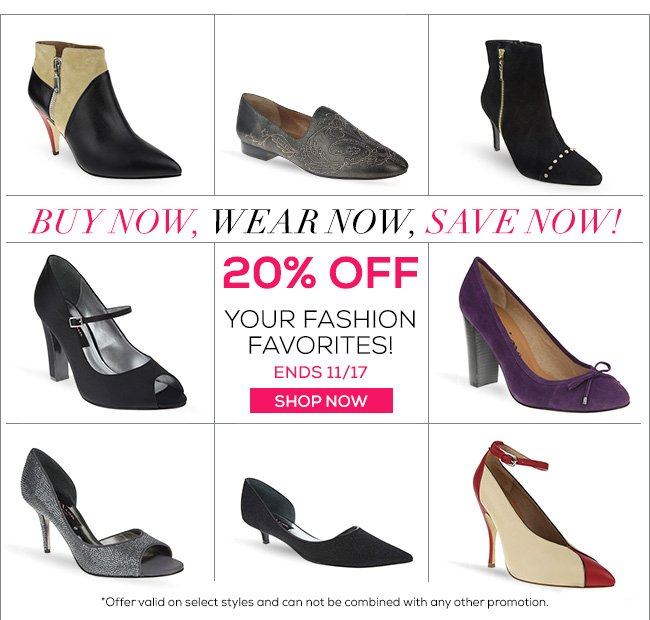 20% OFF Your Fashion Favorites