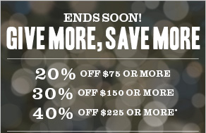 Ends soon! Give more, save more
