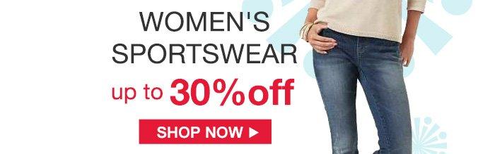 WOMEN'S SPORTSWEAR up to 30% off | SHOP NOW