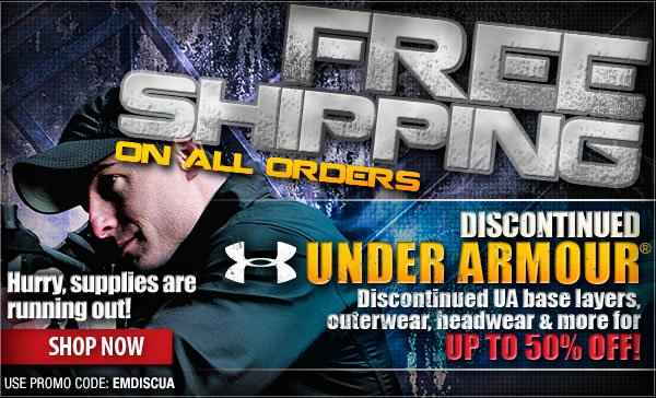 Free Shipping On All Orders | Up to 50 percent Off Discontinued Under Armour