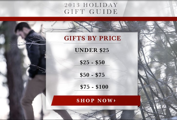 Gift Guide Shop By Price!
