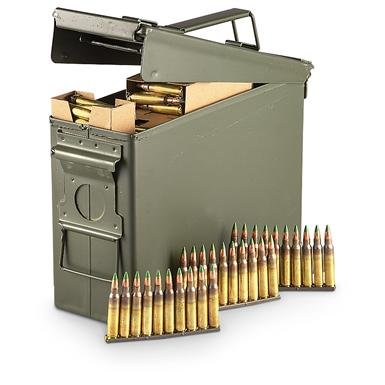 420 rounds .223 (5.56x45mm) 62-grain M855 Ammo with Ammo Can
