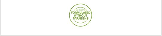 as always FORMULATED WITHOUT PARABENS