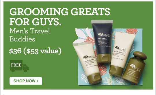 GROMMING GREATS FOR GUYS Mens Travel Buddies 36 dollars 53 dollars value SHOP NOW