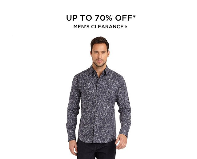 Up To 70% Off* Men's Clearance