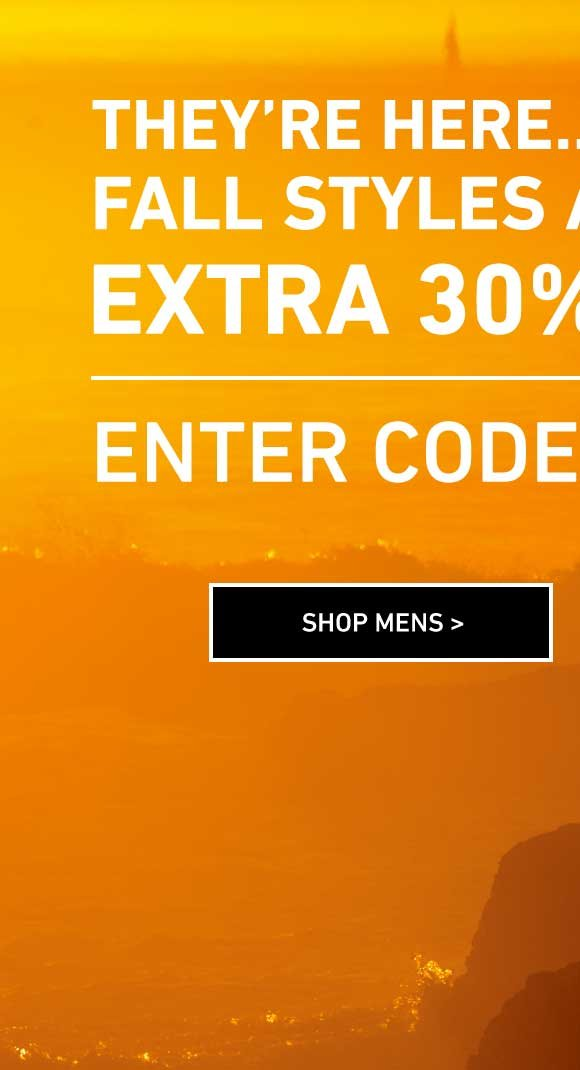 Hundreds Of Fall Styles Added. Shop Men's Extra 30% Off Sale. Enter Code: THENEW30
