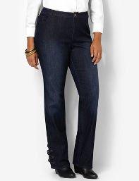 Lace-Up Denim Jean
