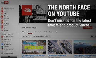 THE NORTH FACE ON YOUTUBE - Don't miss out on the latest athlete and product videos.