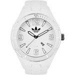 Adidas ADH2688 Unisex Melbourne White Dial White Silicone Bracelet Watch