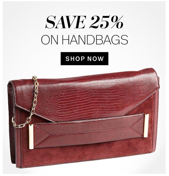 Save 25% on Handbags. Shop Now