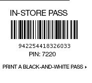 print a black and white pass