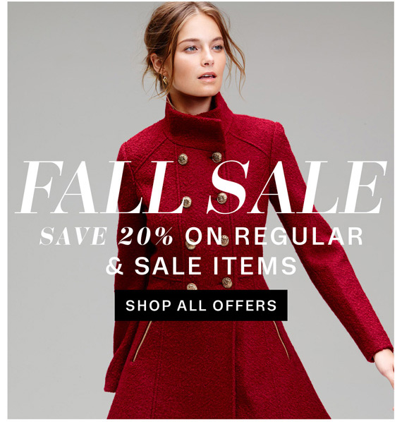 Fall Sale. Save 20% on Regular & Sale Items. Shop All Offers.