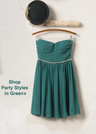 Shop Party Styles in Green