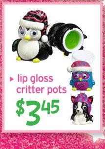 lip gloss critter pots