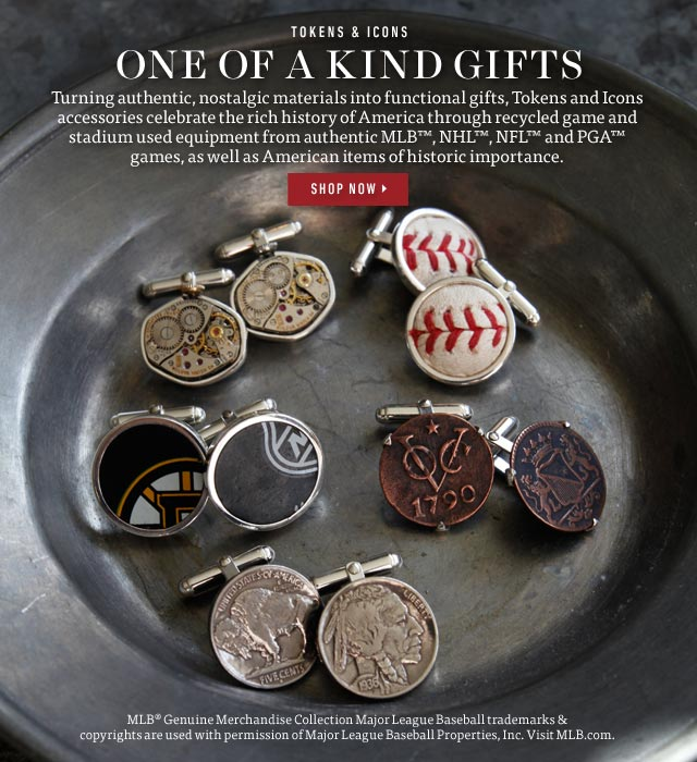 Tokens & Icons: One Of A Kind Gifts. Shop Now >
