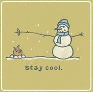 Women's Tee Stay Cool Snowman Long Sleeve