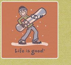 Men's Tee Air Guitar Snowboard Long Sleeve