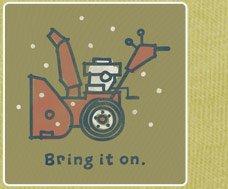 Men's Tee Bring It On Snowblower Long Sleeve