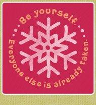Women's Tee Be Yourself Snowflake Long Sleeve