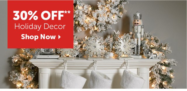30% OFF** Holiday Decor - Shop Now