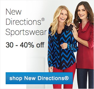 New Directiosn Sportswear 30-40% off. Shop sportswear.