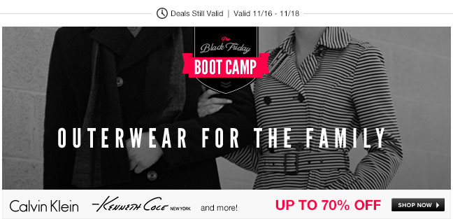 Black Friday Bootcamp: Outerwear for the Family