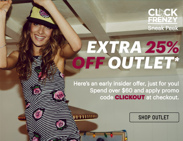 Extra 25% Off Outlet Items*